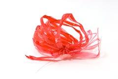 Rött plastic rep royaltyfria foton