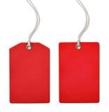 Rött pris för tomt papper eller isolerad försäljningsetikettsuppsättning arkivbilder