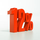 12 rött procent tecken Royaltyfri Fotografi