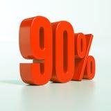 90 rött procent tecken Arkivfoton