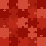 Rött pussel Stock Illustrationer