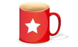 Rött råna med en stjärna royaltyfri illustrationer