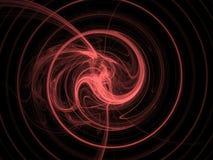 Rött röra sig i spiral arkivfoton