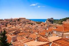 Rött reta tak av Dubrovnik Royaltyfri Fotografi
