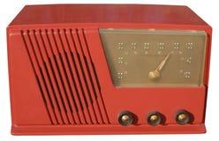 rött retro för radio Arkivfoto
