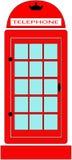 Rött ringa båset Arkivbild