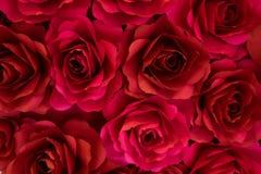 Rött rospapper för bakgrunder Arkivfoton