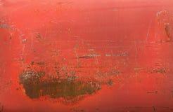 Rött rostigt belägger med metall texturerar fotografering för bildbyråer