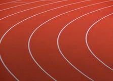 rött running spår Fotografering för Bildbyråer