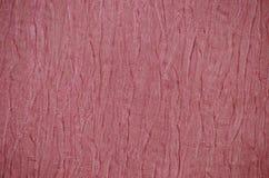 Rött rynkigt papper för abstrakt bakgrund Royaltyfri Foto