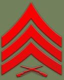 rött sargent för gradbeteckning royaltyfri illustrationer