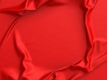 Rött satängtyg eller abstrakt bakgrund för silke Fotografering för Bildbyråer