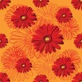 rött seamless för blom- modell Arkivfoton