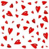 rött seamless för hjärtamodell Arkivfoto