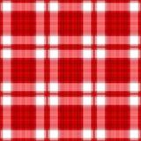 rött seamless för pläd Arkivfoto