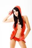 rött sexigt barn för klänninglady fotografering för bildbyråer