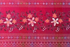 rött silk thai Arkivbild