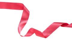 Rött skinande band som isoleras på vit bakgrund Royaltyfri Foto