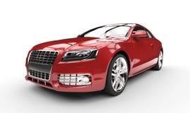 Rött skott för affärsbilmakt Arkivbilder