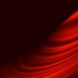 Rött släta ljusa linjer bakgrund för vridningen. EPS 10 Royaltyfri Foto