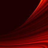 Rött släta ljusa linjer för vridningen. EPS 10 Royaltyfri Foto