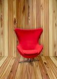 rött slappt stilfullt för stol Arkivbilder