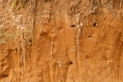 Rött smula för sand Arkivfoto