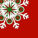 Rött - Snowflake Arkivfoton