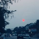 Rött solsken arkivbild
