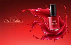 Rött spika det polska realistiska vektorpromobanret vektor illustrationer