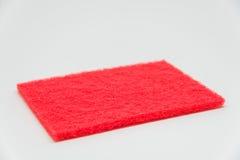 Rött spola ren block med vit bakgrund och den selektiva fokusen Royaltyfria Bilder
