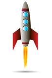 rött starta för raket Royaltyfri Fotografi