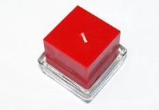 Rött stearinljus Royaltyfri Bild