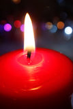 Rött stearinljus Arkivbilder