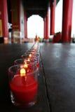 Rött stearinljus Royaltyfria Bilder