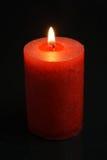 Rött stearinljus Fotografering för Bildbyråer