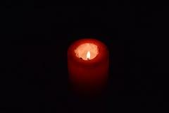Rött stearinljus Arkivfoton