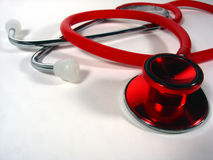 rött stetoskop arkivfoto