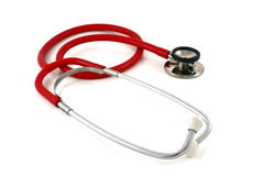 rött stetoskop Arkivfoton