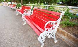 Rött stolstål Royaltyfri Fotografi