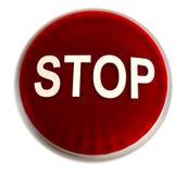 rött stopp för knapp Fotografering för Bildbyråer