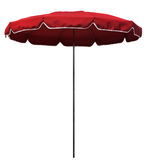 Rött strandparaply Royaltyfria Foton