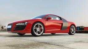 rött supercar Arkivbilder