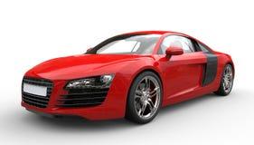 rött supercar Fotografering för Bildbyråer