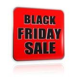 Rött svart baner för svart fredag försäljning Royaltyfria Bilder