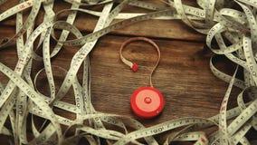 Rött symbol för meterhjälpmedelfråga arkivfilmer