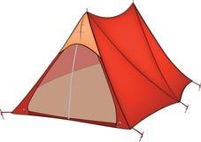 Rött tält vektor illustrationer