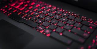 Rött tangentbord Arkivfoton