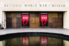 Rött tecken - nationellt museum för världskrig I i Kansas City Fotografering för Bildbyråer
