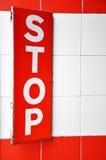 rött teckenstopp royaltyfri bild